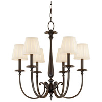 Jefferson 6 Light 25 inch Old Bronze Chandelier Ceiling Light