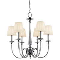 Jefferson 6 Light 25 inch Polished Nickel Chandelier Ceiling Light