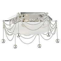 Hudson Valley 5217-PN Zariah 3 Light 17 inch Polished Nickel Flush Mount Ceiling Light