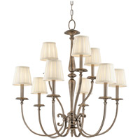 Jefferson 9 Light 32 inch Antique Nickel Chandelier Ceiling Light