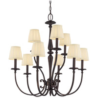 Jefferson 9 Light 32 inch Old Bronze Chandelier Ceiling Light