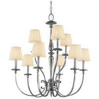 Jefferson 9 Light 32 inch Polished Nickel Chandelier Ceiling Light