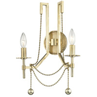 Zariah 2 Light 13 inch Aged Brass Wall Sconce Wall Light