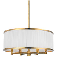 Hastings 6 Light 24 inch Aged Brass Chandelier Ceiling Light