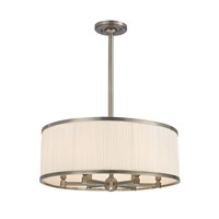 Hudson Valley Lighting Hastings 6 Light Chandelier in Aged Silver 5224-AS photo thumbnail