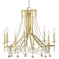 Hudson Valley 5228-AGB Zariah 8 Light 28 inch Aged Brass Chandelier Ceiling Light