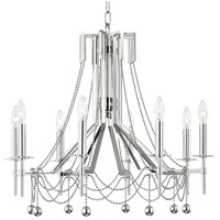 Hudson Valley 5228-PN Zariah 8 Light 28 inch Polished Nickel Chandelier Ceiling Light