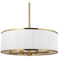 Hudson Valley Lighting Hastings 8 Light Chandelier in Aged Brass 5230-AGB photo thumbnail