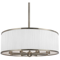 Hastings 8 Light 30 inch Historic Nickel Chandelier Ceiling Light