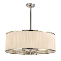 Hudson Valley Lighting Hastings 8 Light Chandelier in Polished Nickel 5230-PN
