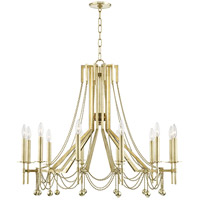 Zariah 12 Light 36 inch Aged Brass Chandelier Ceiling Light