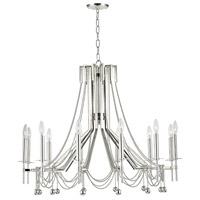 Hudson Valley 5236-PN Zariah 12 Light 36 inch Polished Nickel Chandelier Ceiling Light