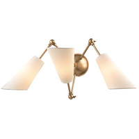 Buckingham 19 inch 40 watt Aged Brass Swing Arm Wall Lamp Wall Light