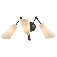 Buckingham 19 inch 40 watt Old Bronze Swing Arm Wall Lamp Wall Light