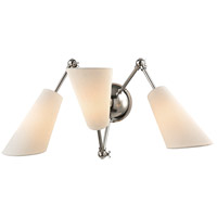 Buckingham 19 inch 40 watt Polished Nickel Swing Arm Wall Lamp Wall Light