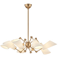 Buckingham 8 Light 35 inch Aged Brass Chandelier Ceiling Light