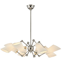 Buckingham 8 Light 35 inch Polished Nickel Chandelier Ceiling Light