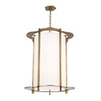 Warwick 10 Light 31 inch Aged Brass Pendant Ceiling Light