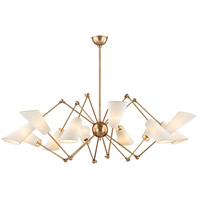 Buckingham 12 Light 54 inch Aged Brass Chandelier Ceiling Light
