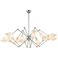 Buckingham 12 Light 54 inch Polished Nickel Chandelier Ceiling Light
