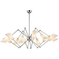 Hudson Valley 5312-PN Buckingham 12 Light 54 inch Polished Nickel Chandelier Ceiling Light
