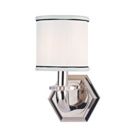 Hudson Valley Lighting Rock Hill 1 Light Wall Sconce in Polished Nickel 5321-PN