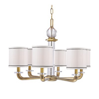 Hudson Valley Lighting Rock Hill 6 Light Chandelier in Aged Brass 5326-AGB