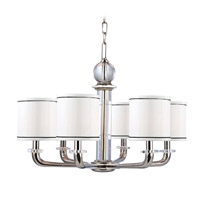Hudson Valley Lighting Rock Hill 6 Light Chandelier in Polished Nickel 5326-PN