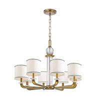 Hudson Valley Lighting Rock Hill 8 Light Chandelier in Aged Brass 5328-AGB