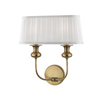 Hudson Valley Lighting Freeport 2 Light Wall Sconce in Aged Brass 5402-AGB