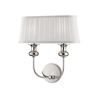 Hudson Valley 5402-PN Pembroke 2 Light 14 inch Polished Nickel Wall Sconce Wall Light