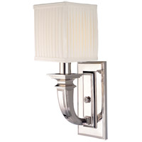 Hudson Valley Lighting Phoenicia 1 Light Wall Sconce in Polished Nickel 541-PN