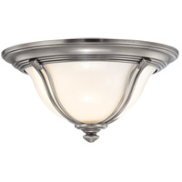 Hudson Valley Lighting Carrollton 1 Light Flush Mount in Antique Nickel 5411-AN