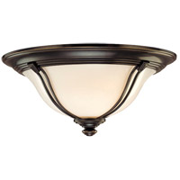 Hudson Valley Lighting Carrollton 1 Light Flush Mount in Old Bronze 5411-OB
