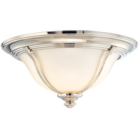 Hudson Valley Lighting Carrollton 1 Light Flush Mount in Polished Nickel 5411-PN