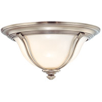 Carrollton 2 Light 14 inch Antique Nickel Flush Mount Ceiling Light