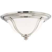 Carrollton 2 Light 14 inch Polished Nickel Flush Mount Ceiling Light