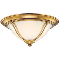 Hudson Valley 5417-FB Carrollton 3 Light 17 inch Flemish Brass Flush Mount Ceiling Light