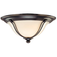 Carrollton 3 Light 17 inch Old Bronze Flush Mount Ceiling Light