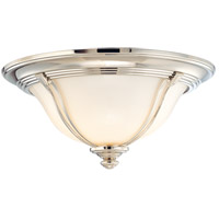 Carrollton 3 Light 17 inch Polished Nickel Flush Mount Ceiling Light