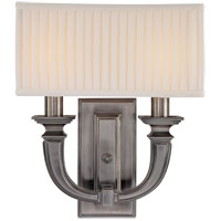 Hudson Valley Lighting Phoenicia 2 Light Wall Sconce in Historic Nickel 542-HN