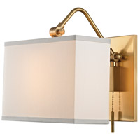 Hudson Valley Leyden 1 Light Wall Sconce in Aged Brass 5421-AGB