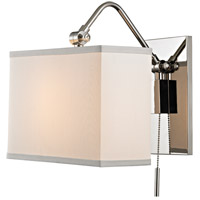 Hudson Valley Leyden 1 Light Wall Sconce in Polished Nickel 5421-PN