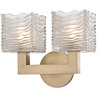 Hudson Valley 5442-AGB Sagamore LED 11 inch Aged Brass Bath Vanity Wall Light