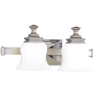 Wilton 2 Light 17 inch Polished Nickel Bath And Vanity Wall Light