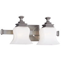 Wilton 2 Light 17 inch Satin Nickel Bath And Vanity Wall Light