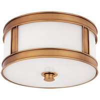 Hudson Valley Lighting Patterson 1 Light Flush Mount in Aged Brass 5510-AGB