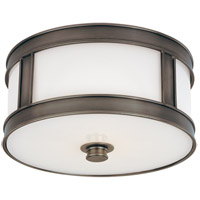 Patterson 1 Light 10 inch Historic Nickel Flush Mount Ceiling Light