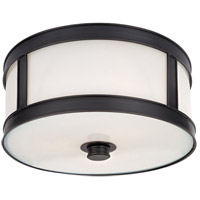 Patterson 1 Light 10 inch Old Bronze Flush Mount Ceiling Light