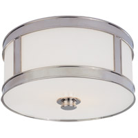 Hudson Valley Lighting Patterson 1 Light Flush Mount in Polished Nickel 5510-PN